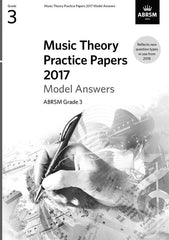 ABRSM Music Theory Practice Papers 2017 - Grade 3 - Model Answers