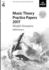 ABRSM Music Theory Practice Papers 2017 - Grade 4 - Model Answers