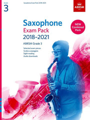 ABRSM Saxophone Exam Pack 2018-2021 - Grade 3 - Pieces, Scales + Sight-Reading (with Audio Download