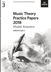 ABRSM Music Theory Practice Papers 2018 - Grade 3 - Model Answers