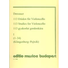 113 Studies for Cello I (Nos 1-34)