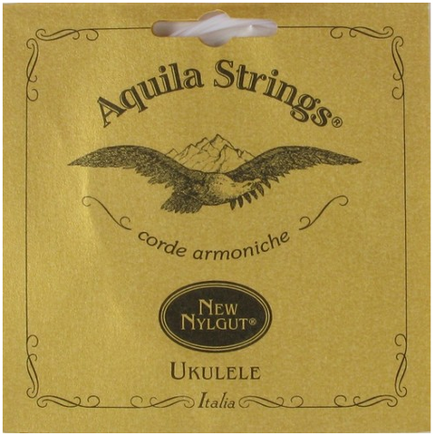 Aquila Concert Ukulele Strings (set of 4, Regular Tuning, All Nylgut, 7U)