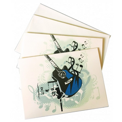 Acoustic Guitar Notelets with Envelopes (10 Pack)