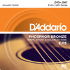 D'Addario Acoustic Guitar Phosphor Bronze Strings - Extra Light (10-47) - Set