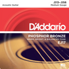 D'Addario Acoustic Guitar Phosphor Bronze Strings - Medium (13-56) - Set