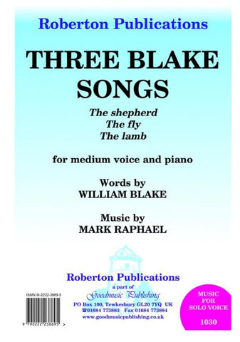 Three Blake Songs for Voice
