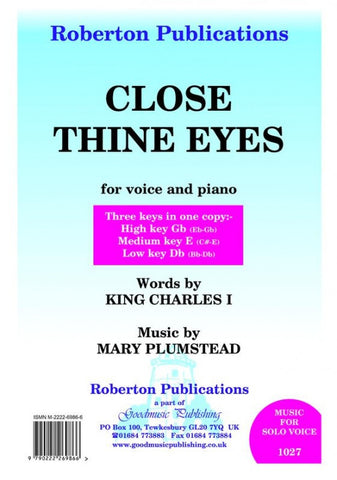 Plumstead: Close Thine Eyes (Voice)