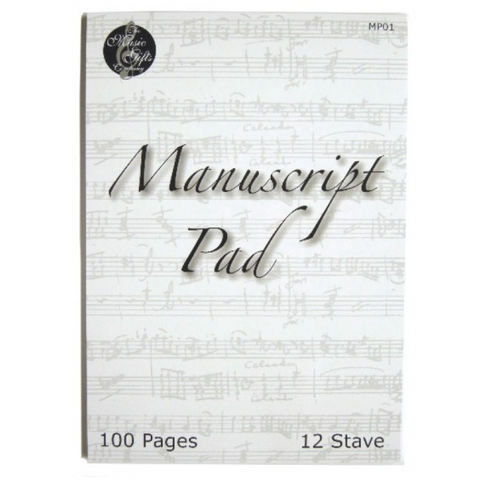 Manuscript Pad - 12 Staves (No Holes), 100 Pages