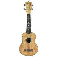 Native Concert Ukulele in Spalted Maple Wood (incl. Free Aquilla Ukulele Strings)