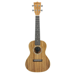 Native Concert Ukulele in Zebrano Wood (incl. Free Aquilla Ukulele Strings)
