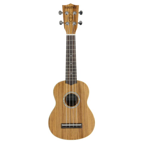 Native Soprano Ukulele in Zebrano Wood (incl. Free Aquilla Ukulele Strings)