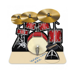 3D Greetings Card - Drum Kit