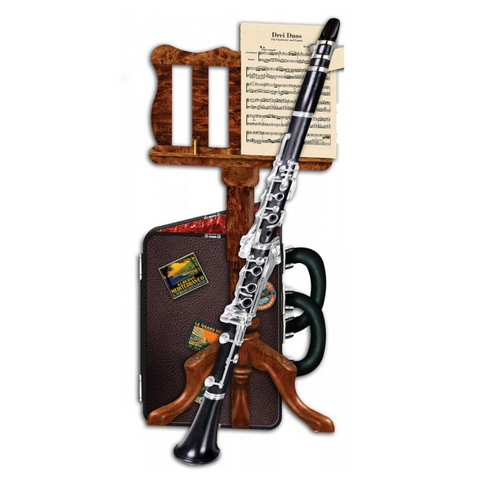 3D Greetings Card - Clarinet