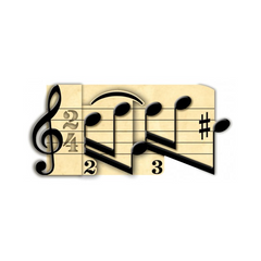 3D Greetings Card - Music Design