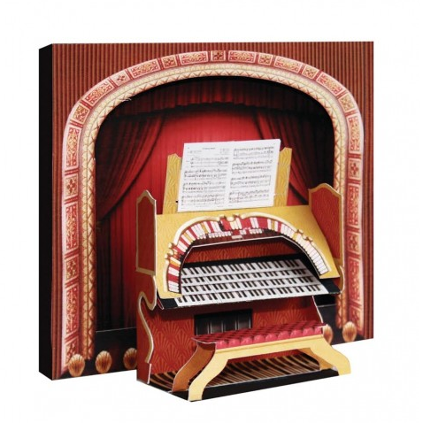 3D Greetings Card - Theatre Organ