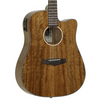 Tanglewood Evolution Exotic Ovangkol Super Folk Cutaway Electro Acoustic Guitar