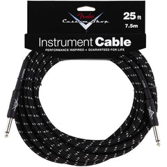 Fender Custom Shop Instrument Cable in Black Tweed - 25ft
