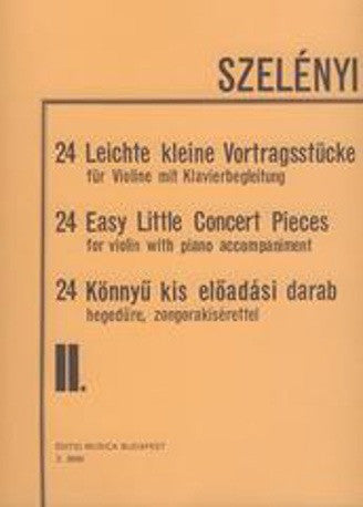Szelenyi - 24 Easy Little Concert Pieces volume 2 - Violin