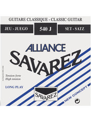 Savarez 540J Alliance Classical Guitar Strings - Blue (Hard Tension) - Set