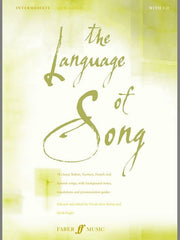 The Language of Song: Intermediate - Low Voice (with CD)