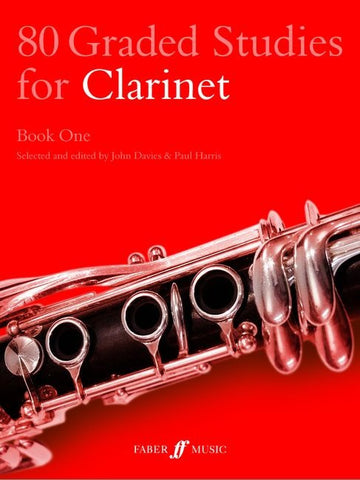 80 Graded Studies for Clarinet - Book 1