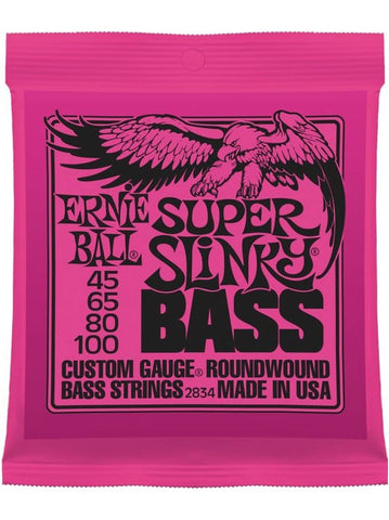 Ernie Ball Super Slinky Electric Bass Guitar Strings (45-100) - Set