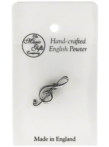 Pewter Pin Badge - Treble Clef
