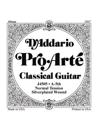 D'addario Pro Arte Classical Guitar String - Silver Wound on Nylon - Normal - A (5th)
