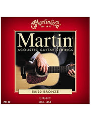 Martin 80/20 Bronze Acoustic Guitar Strings - Light (12-54) - Set