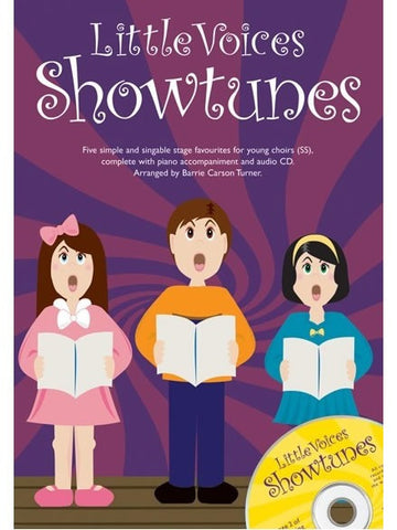 Little Voices: Showtunes - SS + Piano (with CD)