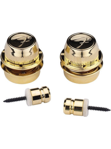 Fender F Guitar Strap Locks - Gold