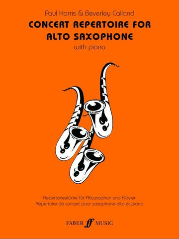 Concert Repertoire for Alto Saxophone with Piano