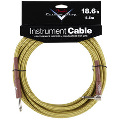 Fender Custom Shop Instrument Cable in Tweed - 18.6ft (Angled Jack)