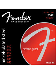 Fender 250R Nickel-Plated Steel Electric Guitar Strings - Regular (10-46) - Set