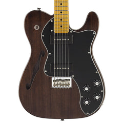 Fender Modern Player Telecaster Thinline Deluxe Electric Guitar - Black Transparent