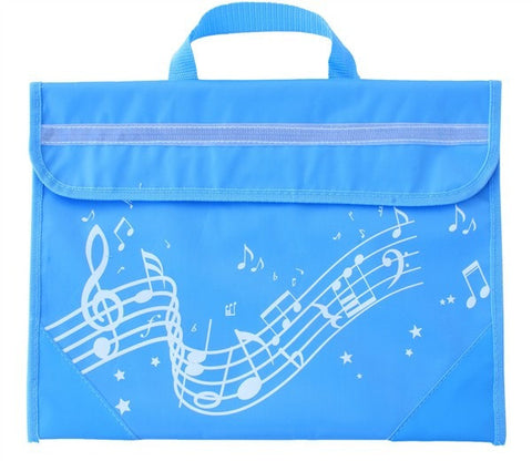 Musicwear: Wavy Stave Music Bag - Light Blue