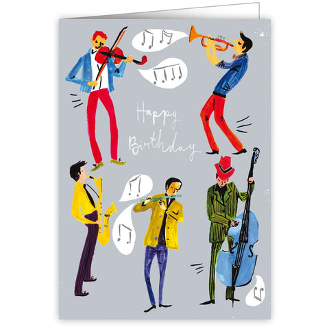 Jamming musicians happy birthday greetings card ds music jamming musicians happy birthday greetings card bookmarktalkfo Image collections
