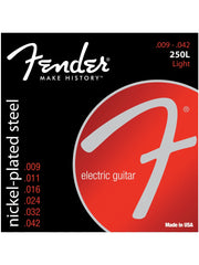 Fender 250L Nickel-Plated Steel Electric Guitar Strings - Light (9-42) - Set
