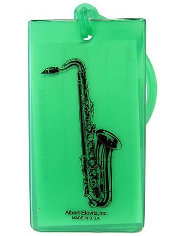 Musical Instrument Name Tag - Saxophone (various colours)