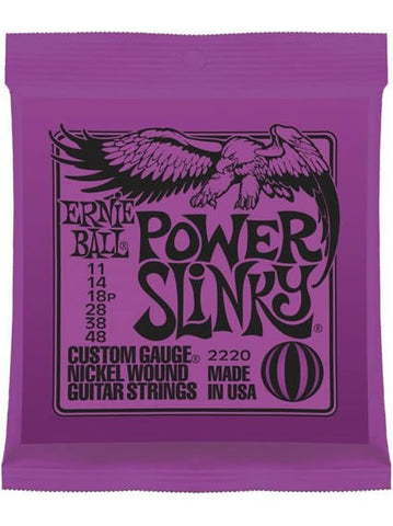 Ernie Ball Power Slinky Electric Guitar Strings (11-48) - Set