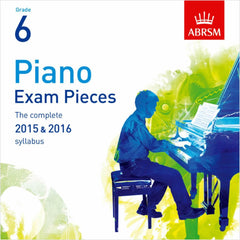 ABRSM Piano Exam Pieces 2015-2016 - Grade 6 - CD Only
