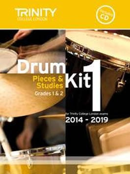 Trinity College London: Drum Kit Pieces + Studies 2014-2019 - Book 1 - Grades 1 + 2 (with CD)
