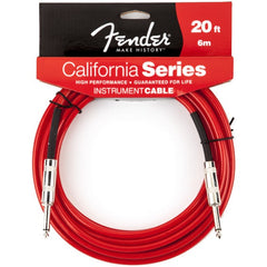 Fender California Series Instrument Cable in Candy Apple Red - 20ft