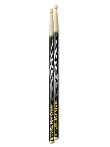 ArtiSticks Drum Sticks - Black Flame - 5AW