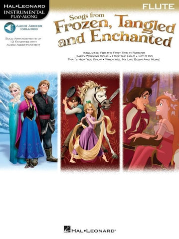 Hal Leonard Instrumental Play-Along: Songs from Frozen, Tangled + Enchanted - Flute (Online Audio)