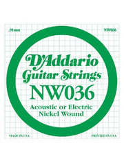 D'Addario XL Electric Guitar String - Nickel Wound - .036 Guage