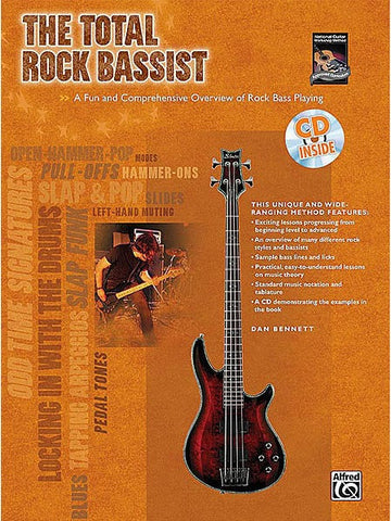 The Total Rock Bassist - Bass Guitar (with CD)