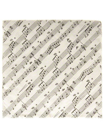 Napkins: 2-Ply Luncheon Napkins - Notation Design