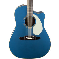 Fender Sonoran SCE Acoustic Guitar - Dreadnought Cutaway - Solid Top/Back - Lake Placid Blue