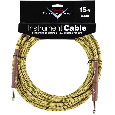 Fender Custom Shop Instrument Cable in Tweed - 15ft